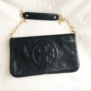 Authentic Tory Burch Reva leather clutch